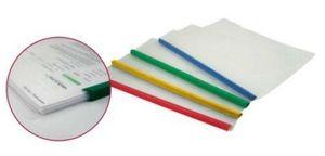 Папка з планкою-затиском А4 мікс кольорів 70 мкм глянсова фактура 6 мм (2-35 аркушів) Economix E31204