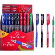 Набір масляних ручок 1.0 мм з гумовим тримачем I-Pen Mix Radius