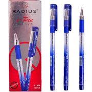 Ручка масляна синя 1.0 мм з гумовим тримачем I-Pen Radius