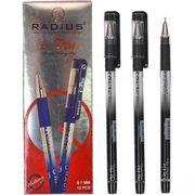 Ручка масляна чорна 1.0 мм з гумовим тримачем I-Pen Radius
