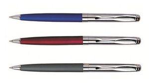 Ручка кулькова автоматична поворотна металева синя 0.5 мм Baixin BP861