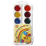 Акварельні фарби 12 кольорів, пластиков упаковка Акварелька Карамелька Тетрада ТЕ461147