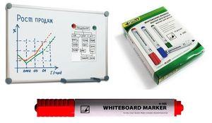 Маркер для дошки 4Office 4-105 червоний 1-3 мм(12) 01170201