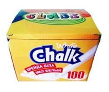 Крейда біла 100шт CLASS кругла 7610 (36)  11070500