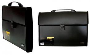 Портфель пластиковий  В4 3 відд Scholz 5226 чорний 03100119