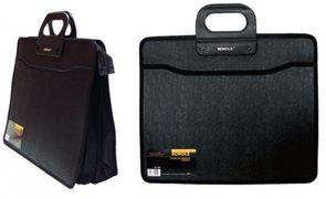 Портфель пластиковий  В4 3+1 відд Scholz 5244 на блискавці чорний 03100190