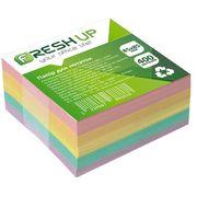 Папір для нотаток клеєний кольоровий блок Fresh 400 аркушів 85х85 мм FR-3212