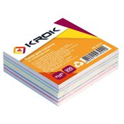 Папір для нотаток не клеєний кольоровий блок Krok 300 аркушів 85х85 мм KR-2111