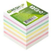 Папір для нотаток не клеєний кольоровий блок Fresh Up 900 аркушів 90х90 мм FR-2611
