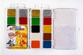Акварельні фарби 10 кольорів, пластикова упаковка Блискавка Тетрада ТЕ461515