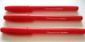 Ручка масляна червона 0.7 мм з матовим корпусом Face pen Radius