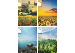 Папка з затиском А4 мікс кольорів 700 мкм матова фактура Nature of Ukraine Optima O31279