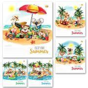Зошит в лінію 18 аркушів кольорова обкладинка, дизайн: Літня Тетрада ТЕ92281