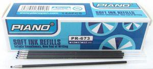 Стержень масляний PIANO 195. Пишучий вузол 0,5 мм. Довжина 107 мм. Колір чорнила: синій PR-673 (144)