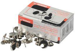 кнопки, 100шт., нікель, 4837, NORMA 04110390 (10/500)