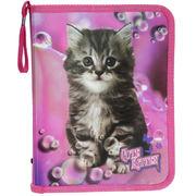 Папка на блискавці об'ємна,  Cute Kitten, 30*190*250 мм, PP, 5627C , Class 13070480 (1/60/240)