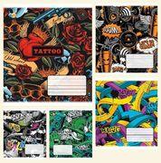 Зошит в клітинку 36 аркушів кольорова обкладинка, дизайн: Графіті  Тетрада ТЕ51413