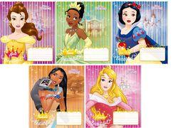 Зошит в косу лінію 12 аркушів кольорова обкладинка, дизайн: Disney Princess Тетрада ТЕ11930