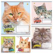 Зошит в клітинку 12 аркушів кольорова обкладинка, дизайн: Girl power Тетрада ТЕ51112
