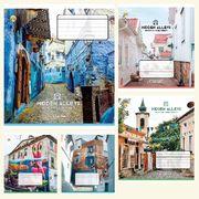 Зошит в клітинку 18 аркушів кольорова обкладинка, дизайн: Міські алеї Тетрада ТЕ51218