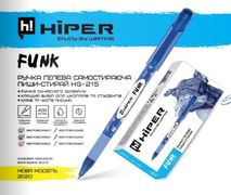 Ручка гельова пиши-стирай Hiper Funk HG-215 0.7мм (синя) (10)