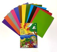 Картон кольоровий двосторонній А4, 12 аркушів 12 кольорів. В паперовому конверті. Тетрада ТЕ13098