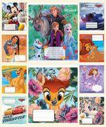 Зошит в клітинку 12 аркушів кольорова обкладинка, дизайн: Disney Мікс Тетрада ТЕ12511