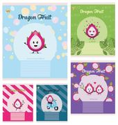 Зошит в лінію 18 аркушів кольорова обкладинка, дизайн: Dragon fruit Тетрада ТЕ52212
