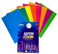 Картон кольоровий односторонній А4, 8 аркушів 8 кольорів. В картонній папці. Неон Family Line Тетрада ТЕ12946