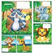 Зошит в клітинку 12 аркушів кольорова обкладинка, дизайн: Африка 2 Тетрада ТЕ11190