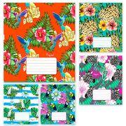 Зошит в клітинку 18 аркушів кольорова обкладинка, дизайн: Тропічна Тетрада ТЕ11200