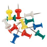 Кнопки-цвяшки, кольорові, 50шт., пласт. контейнер 4213-A (1)