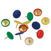 Кнопки кольорові, 100 шт., пласт.покр., пласт.контейнер 4214-A (1)
