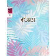 Папка з затиском, A4, Forest, 3D пластик, блакитна 1311-07-A (1)