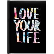 Щоденник датований 2022 А5, 336 сторінок, лінія, тверда обкладинка Стандарт Графо Love your life 73-795 68 132 Brunnen