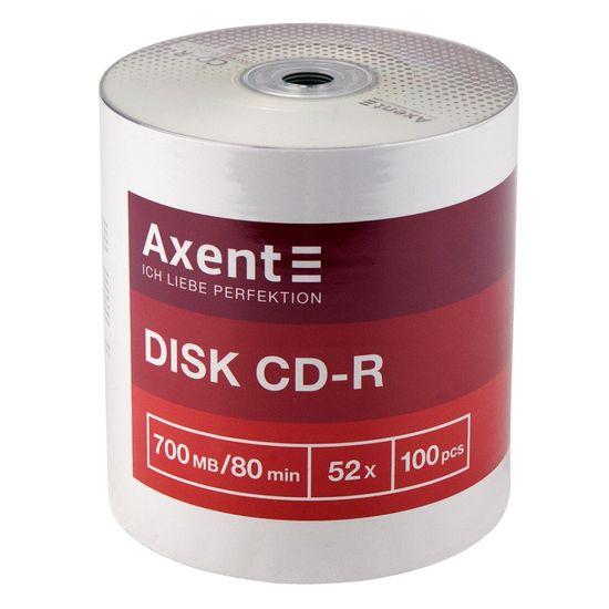 CD диск для одноразового запису інформації. Ємність диска 700 MB/80 min, швидкість запису 52x. Кількість: 100 шт. Bulk. 8101-A (100)
