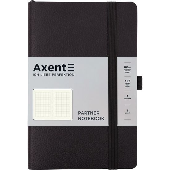 Записна книжка А5, 96 сторінок, клітинка, м`яка обкладинка Partner Soft Skin 8616-01-A Axent