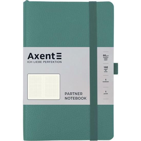 Записна книжка А5, 96 сторінок, клітинка, м`яка обкладинка Partner Soft Skin 8616-48-A Axent