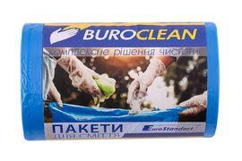 Пакети для сміття  35л/100 шт, сині,  500х600мм, 8мкм BuroClean EuroStandart 10200023 (1/20)