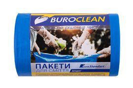 Пакети для сміття  60л/40 шт, міцні, сині  600х800мм, 21мкм BuroClean EuroStandart 10200037 (1/11)