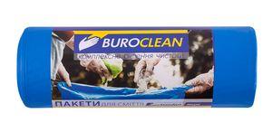 Пакети для сміття  240л/10 шт, міцні, сині  900х1300мм, 35мкм BuroClean EuroStandart 10200062 (1/10)