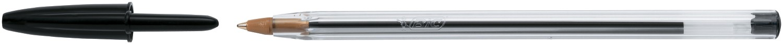 Ручка Cristal чорна 0,32 мм, зі штрих-кодом на штуку bc847897 (1/50/1000)