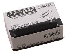Скріпки оцинковані 25мм, 100 шт., JOBMAX, круглі BM.5022 (1/10/500)