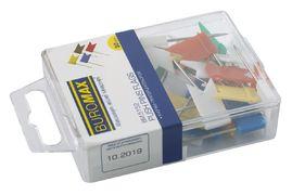 Кнопки-цвяшки кольор. прапорці, 30шт., пласт.контейнер BM.5152 (1/10/360)