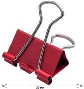 Бiндер 25мм, 12шт., туба, червоний BM.5357-05 (1/150)
