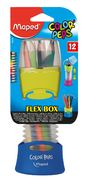 Олівці кольорові COLOR PEPS Flex Box, 12 кол., + розсувний пенал, асорті MP.683212 (1/16/32)