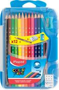 Олівці кольорові COLOR PEPS Smart Box, 12 кол. + 3 вироби, пластик. футляр з підвісом, асорті MP.832