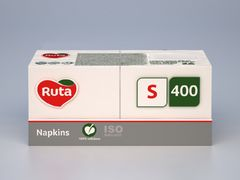 Серветки Professional S 400 шт,  білі, RUTA rt.93691 (1/32)
