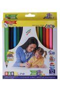 Кольорові олівці JUMBO, з чинкою 12 кольорів ZB.2452 (1/6/72)