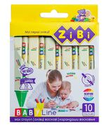 Олівці воскові JUMBO, 10 кольорів, трикутні, BABY Line ZB.2482 (1/24/192)